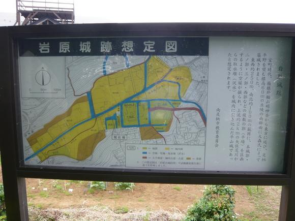 岩原城跡説明板