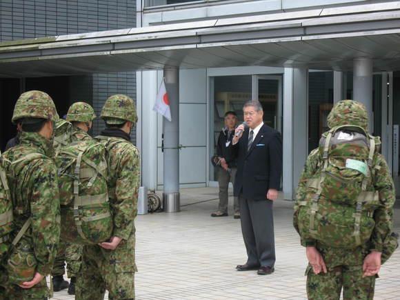平成24年3月11日(日) 陸上自衛隊第1高射特科大隊第2中隊「隊区徒歩行進訓練」