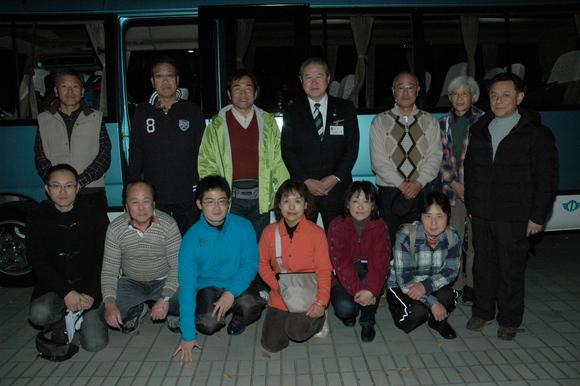 平成23年11月25日(金) ボランティアバス出発見送り