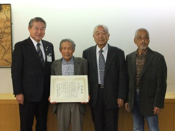 平成23年11月15日(火) さくらを守る会から「日本さくらの会・平成23年度さくら功労者」受賞報告