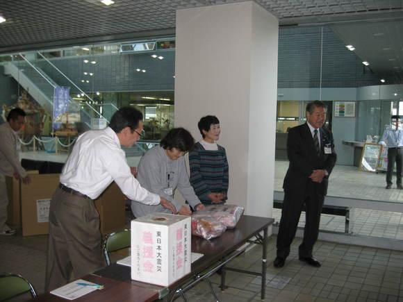 平成23年11月9日(水) 東日本大震災支援物資受付