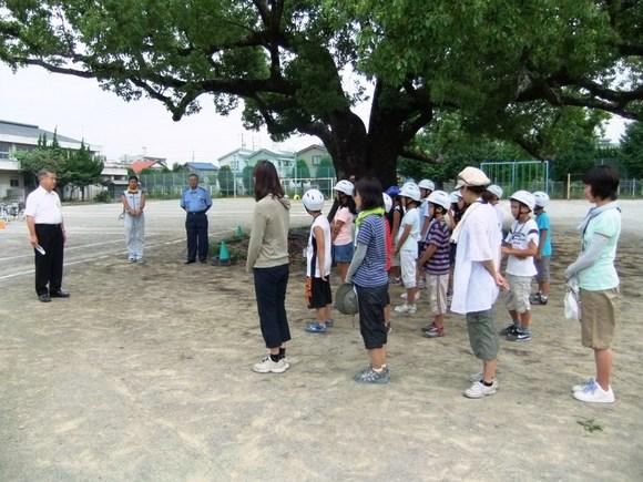 平成23年8月19日(金) 「自転車の安全な乗り方足柄上地区大会」練習の激励
