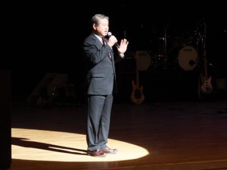 市文化会館音響・照明改修披露イベント:市長挨拶の様子