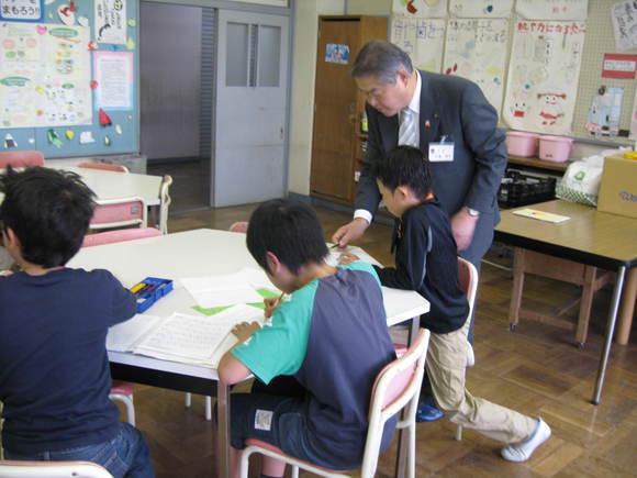 平成24年4月25日(水) 放課後子ども教室(向田小学校)現場視察