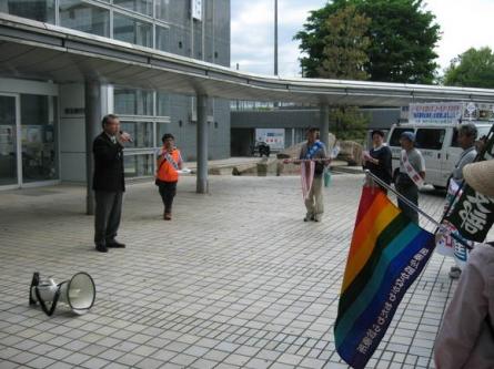 平成24年5月16日(水) 「被爆67年、核兵器廃絶2012年平和行進」激励