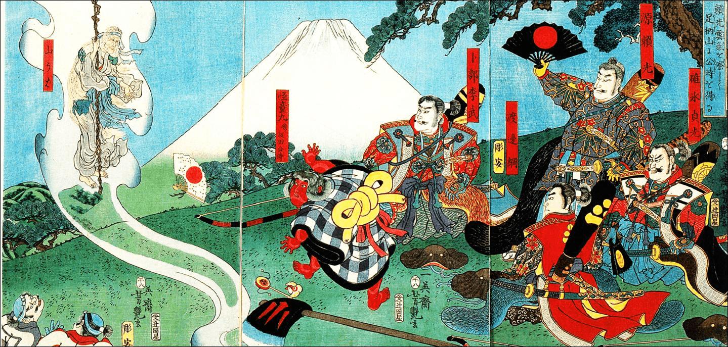 浮世絵金太郎と四天王他