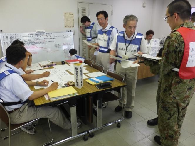 南足柄市と神奈川県との合同地震対策図上訓練