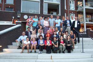 南足柄市民交流団とティルブルグ市民との集合写真