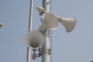 防災行政無線の屋外スピーカー
